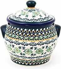 Original Bunzlauer Keramiktopf / Mehrzwecktopf / Vorratsdose 0,75 Liter Dekor DU164