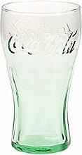 Original Coca-Cola Glas, grün, Kontur Glas Set