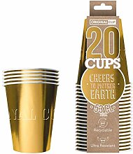 Original Cup - 20 Gläser amerikanisch vergoldet