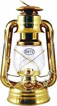 Original DIETZ Sturmlaterne Messing, Petroleumlampe Messing poliert, Höhe 254 mm