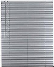 Original Easy-Shadow Aluminium Jalousie 16 mm Lamellen Breite 155 x 130 cm Höhe in Farbe silber - Bedienseite links - Fensterjalousie Jalousette Jalousien Alu-Jalousien Alu-Jalousetten Fenster Rollo Lamellenbreite 16mm / Maßanfertigung