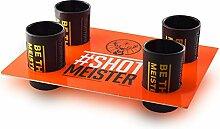 Original Jägermeister 2cl Shotglas Set Schwarz 4x