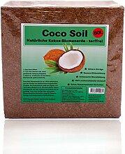 Original Kokoserde von Coco Soil | Blumenerde mit Quelleffekt für mehr Komfort bei der Gartenarbeit und hervorragendes Pflanzenwachstum | 100% Natürlich | 3 KG Packung (ergeben 50 Liter)