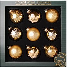 Original Lauschaer Christbaumschmuck - 9er Set