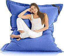 Original LAZY BAG Indoor & Outdoor Sitzsack XXL 400L Riesensitzsack Sitzkissen Sessel für Kinder & Erwachsene 180x140cm (Blau)
