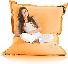 Original LAZY BAG Indoor & Outdoor Sitzsack XXL 400L Riesensitzsack Sitzkissen Sessel für Kinder & Erwachsene 180x140cm (Orange)