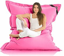 Original LAZY BAG Indoor & Outdoor Sitzsack XXL 400L Riesensitzsack Sitzkissen Sessel für Kinder & Erwachsene 180x140cm (Pink)