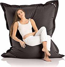 Original LAZY BAG Indoor & Outdoor Sitzsack XXL 400L Riesensitzsack Sitzkissen Sessel für Kinder & Erwachsene 180x140cm (Schwarz)
