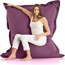 Original LAZY BAG Indoor & Outdoor Sitzsack XXL 400L Riesensitzsack Sitzkissen Sessel für Kinder & Erwachsene 180x140cm (Violett)
