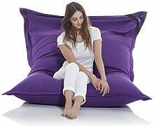 Original LAZY BAG Sitzsack XXL 400L Riesensitzsack aus Baumwolle 180x140cm (Violett-Lila)