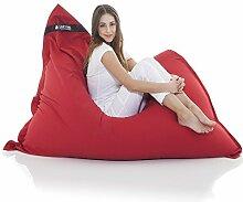 Original LAZY BAG Sitzsack XXL 400L Riesensitzsack aus Baumwolle 180x140cm (Rot)