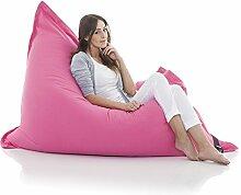 Original LAZY BAG Sitzsack XXL 400L Riesensitzsack aus Baumwolle 180x140cm (Pink-Rosa)