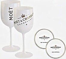 Original Moët & Chandon Glas Champagnerglas Set
