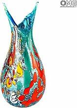 Original Muranoglas OMG Papillon Vase - Hellblau