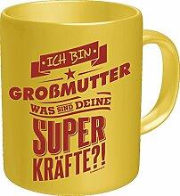 Original RAHMENLOS® Kaffeebecher für die Oma: Ich bin Großmutter, was sind Deine Superkräfte? Im Geschenkkarton 2619