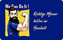 Original RAHMENLOS® Schneidbrettchen: Richtige Männer helfen im Haushal