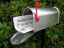 Original US-Mailbox Premium - Unser Bestseller! Aluminium, 'Made in USA' - US Mailbox - Briefkasten