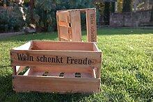 Original Weinkiste neuwertig mit Aufdruck, Wein aus deutschen Landen , Holz, Deko, Regal , Tisch, Vorratsbox