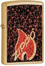 Original Zippo Feuerzeug RETRO FLAME Gold Dust