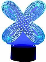originelle 3D LED Designerlampe Wohnlicht