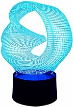 Originelle 3D LED-Lampe Magic Circle