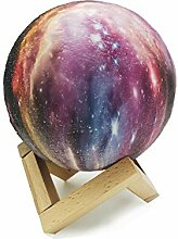 originelle 3D Mond Lampe 16 Farben Dekoleuchte