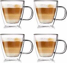 ORION GROUP Thermogläser 4 Stück Kaffeegläser