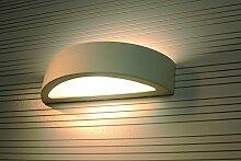 ORION moderne Wandleuchte Sconces innen gebogen Weiß Zum Überstreichen modernem Keramik Lampe E27 &up down Lichteffekt NL.0001