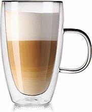 ORION Teeglas Kaffeeglas Doppelwandiges
