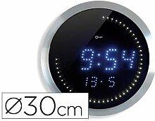 Orium 11455Wanduhr Basic Metall Alu Durchmesser