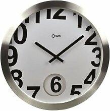 Orium 11491Wanduhr Loft Pendulum Aluminium/Glas