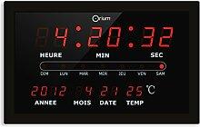 Orium 11666Wanduhr mit Kalender, LED,
