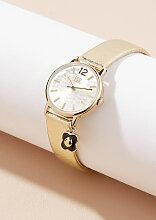 Orla Kiely Camille Uhr mit Lederarmband - Gold
