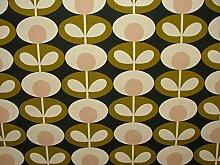 Orla Kiely Oval Blume Seegras Designer Baumwolle