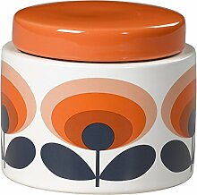 Orla Kiely Oval Blume Vorratsdose, orange