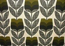 Orla Kiely Rosebud Moos Designer Baumwolle Vorhang