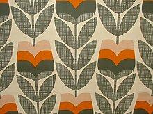 Orla Kiely Rosebud Orange Designer Baumwolle