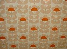 Orla Kiely Sweetpea orange Designer Baumwolle