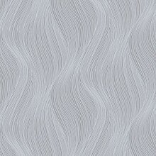 Orla Wave Glitter Tapete Grau Muriva 153106
