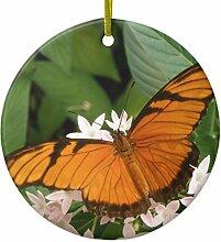 Ornament, Orange Julia Schmetterling Weihnachten