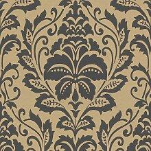 Ornament Tapete Bronze Schwarz 369104   BEAUTIFUL