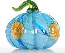 Ornamente Bunte Kürbis Figur Geschenk Glas