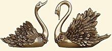 Ornamente Swan Decoration Ein Paar Weinschrank Dekorationen Wohnzimmer TV-Schrank Heimtextilien Freundinnen Hochzeitsgeschenke