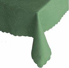 Ornamente Tafeldecke - Eckig 110 x 220 cm Farbe wählbar - Dunkelgrün / Grün Tischdecke