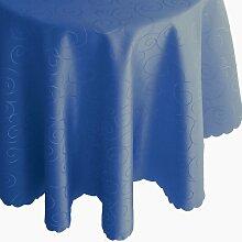 Ornamente Tafeldecke - Rund 160 cm Farbe wählbar - Dunkelblau Blau Tischdecke