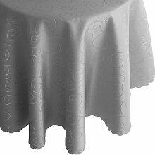 Ornamente Tafeldecke - Rund 160 cm Farbe wählbar - Grau Tischdecke