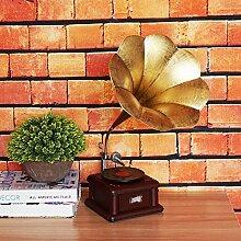 Ornamentesd Heimtextilien Dekoration Fotografie Requisiten Wohnzimmer TV Cabinet Cabinet Dekoration Shop Layout Modell der mittleren Plattenspieler Plattenspieler, Plattenspieler 26 * 35 * 50 Cm