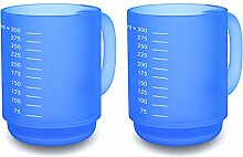 Ornamin, 2 Becher mit Skala (510), 375 ml