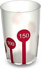 Ornamin: 4 Becher mit Antirutsch- Skala (820), 230 ml (natur / rot)