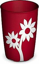 Ornamin Becher mit Anti-Rutsch Blume 220 ml rot/weiß | Farbenfroher Trinkbecher mit Antirutsch Blumendekor für festen Halt und sicheres Greifen | Trinkhilfe, Pflege-Becher, Kinderbecher